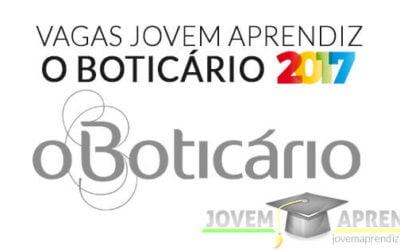 Vagas Jovem Aprendiz Boticário 2017