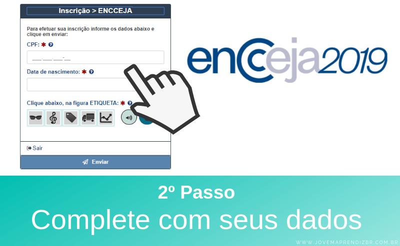 Inscrições ENCCEJA 2019 - Passo 2