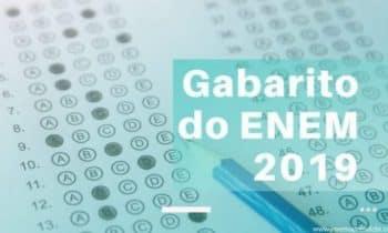 Gabarito do ENEM 2019 – Consulte sua pontuação!