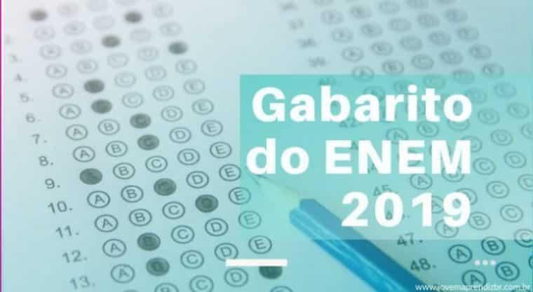 Gabarito do ENEM 2019