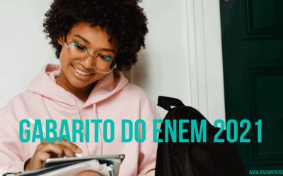 Gabarito do ENEM 2021 – Consulte sua pontuação!