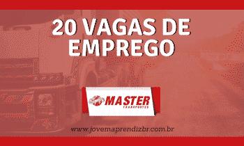 20 Vagas de emprego na Master Logística